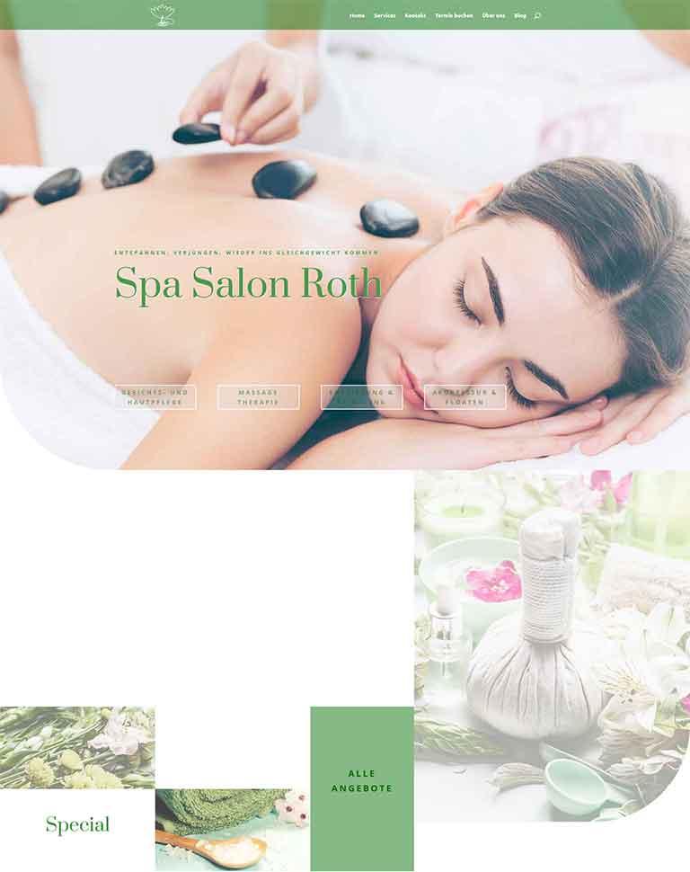 Website für einen Spa Salon